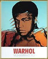 ポスター アンディ ウォーホル モハメド アリ 1977 額装品 アルミ製ハイグレードフレーム(ゴールド)
