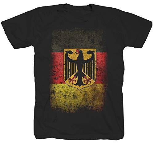Duitsland vlag zwart T-shirt