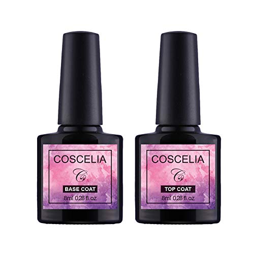 Saint-Acior UV Nagellack Top Coat & Base Coat Primer Unterlack Überlack Set Gel LED Nail polish 2x8ml