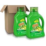 Laundry Detergent Liquid Plus Aroma Boost, Original Scent, HE Compatible, 96 Loads Total, 75 Fl Oz (Pack of 2) .75 oz-(2 Pack)