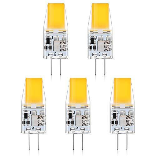 Creyer G4 LED Lampen, 3W LED Birnen ersetzt 35W Halogenlampen,350LM,2900K Warmweiß 12V AC/DC LED Leuchtmittel,Kein Flackern Nicht Dimmbar G4 LED Birn, Stiftsockellampe Glühbirnen 5er Pack