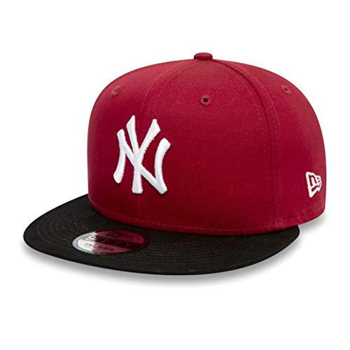 New Era Colour Block 9Fifty Kinder Snapback Cap NY Yankees Rot Schwarz, Size:Youth