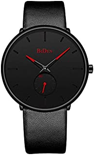 Reloj para hombre, de moda, simple, minimalista, resistente al agua, reloj analógico de cuarzo, de lujo, para negocios, clásico, de vestir, reloj de muñeca