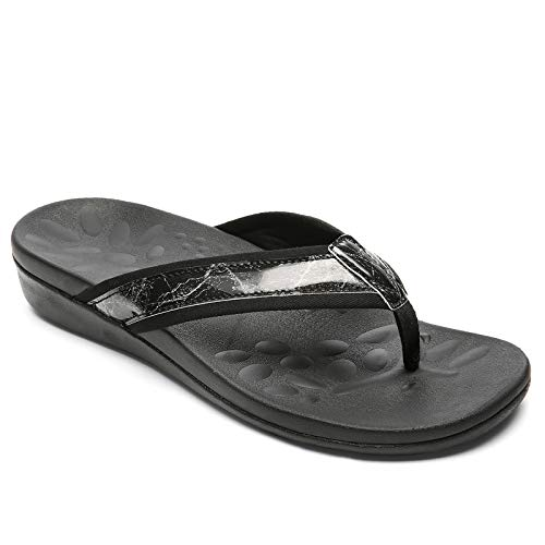 Orthopedic Flip Flops for Women, Best Plantar Fasciitis Sandals for Flat Feet/high arch, Comfortable Walking Thong Sandals for Women size 7