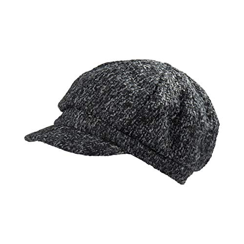 Unbekannt City-Mütze grau mit Gummizug, bis 58 cm, Damen   Mütze, Accessoire, Kopfbedeckung, Kappe