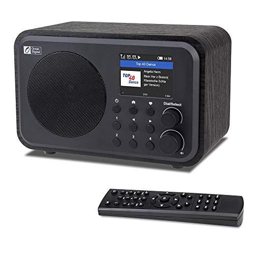 """Ocean Digital WiFi Internet Radios WR-336N Radio digital portátil con batería recargable Receptor Bluetooth con pantalla a color de 2.4 \"""", 4 botones preestablecidos, soporte UPnP y DLNA-Negro"""