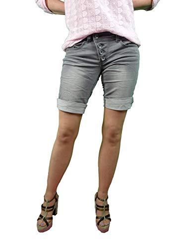 Buena Vista Damen Jeansbermudas Malibu Short grau (13) L