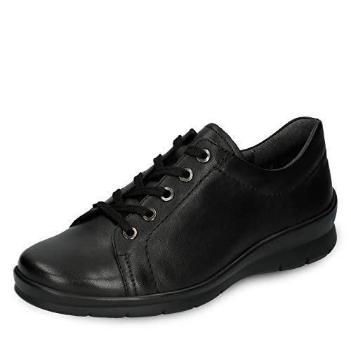 Semler X2015012001 Xenia Damen Sportiver Schnürschuh aus Glattleder in Weite H, Groesse 38, schwarz