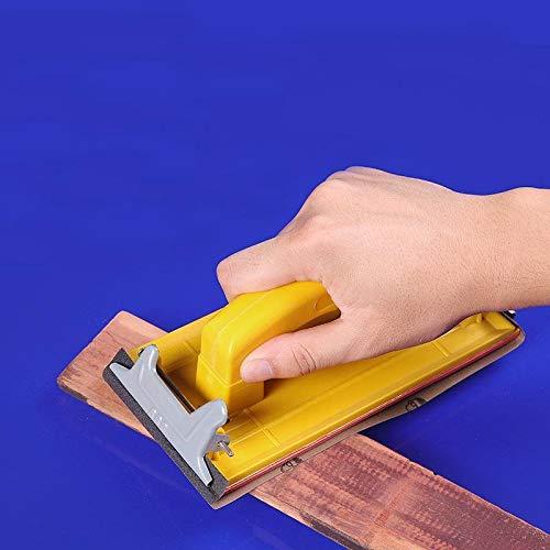 QPLKL Zimmerarbeiten Nass- und Trockenhandgriff Schmirgelpapier Halter Werkzeuge zum Polieren Wand Schleifen Holzbearbeitung Werkzeug polierten Schleifen (Color : Yellow)