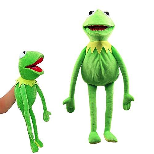 N\ A Frosch Gefüllte Plüschtier Spielzeugpuppen Plüschpuppe Frosch Handpuppen Mit Beweglichen Plüschgeschenken Mit Offenem Mund Für Kinder Familienfreunde 33CM/Grün