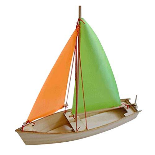 B Blesiya DIY Holz Segelboot Holzboot Boot Modellbausatz Kinder Basteln Spielzeug