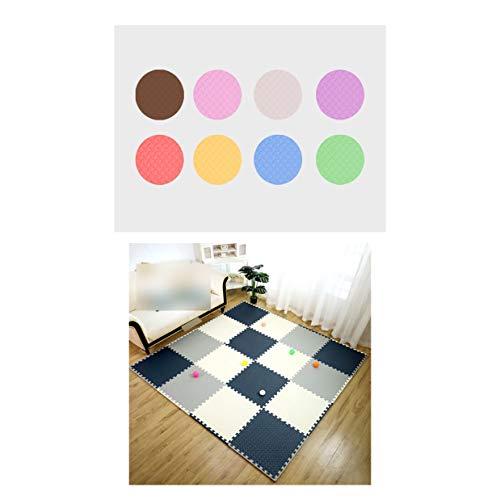 LXZFJW Azulejos entrelazados de espuma con bordes entrelazados Eva baldosas de piso entrelazadas azul+gris+blanco 60 × 60 × 2 cm 6 unidades