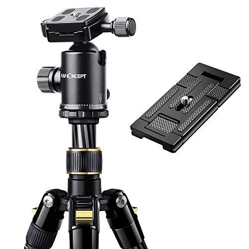 K&F Concept TC2534 66 Inch DSLR Camera Tripod with 2 in1 Quick Release Plate