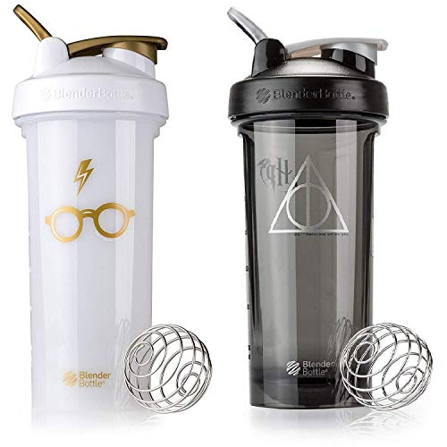 Blender Bottle Pro Series - 2 Pack - Glasses and Deathly Hallows Designs - 28 oz Louisiana