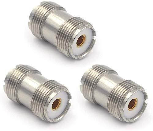 VCE 3 Stück UHF Antennen Kupplung PL Kupplung UHF PL259 Buchse auf UHF Buchse S0239 Koxial Adapter