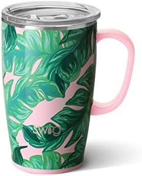 Swig Life 18oz Triple Insulated Travel Mug with Handle and Lid Dishwasher Safe Double Wall and product image