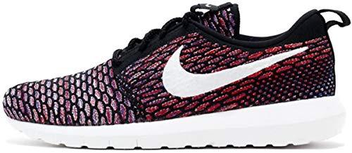 Nike Roshe NM Flyknit, Scarpe da Corsa Uomo, Nero (Nero/Bianco-Rosso università), 39