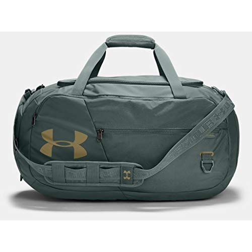Under Armour Duffel Undeniable 4.0 Mittelgroße Duffel-Tasche, Lichen Blue / Metallic Gold Luster (424), OSFA, 1342657-424