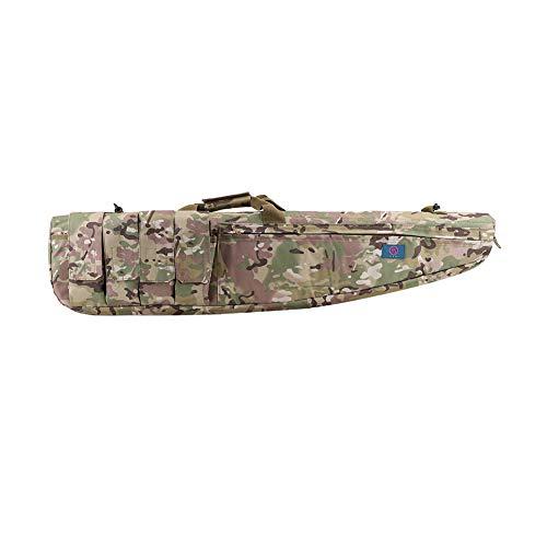 LUVODI Waffentasche Rifle Case Gun Bag Futteral Gewehrtasche mit 5 Zubehör Beutel 100cm/120cm X 28cm (Grün 1M)