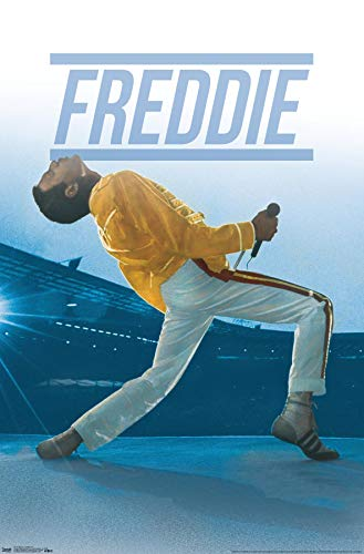 Trends International Queen-Freddie póster de Pared en Vivo, 24.25 x 35.75 Pulgadas, Multi, versión sin Marco, Multicolor, 22.375' x 34', 1