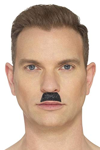 Falsche falsche selbstklebende Zahnbürste für Herren und Erwachsene, Schwarz