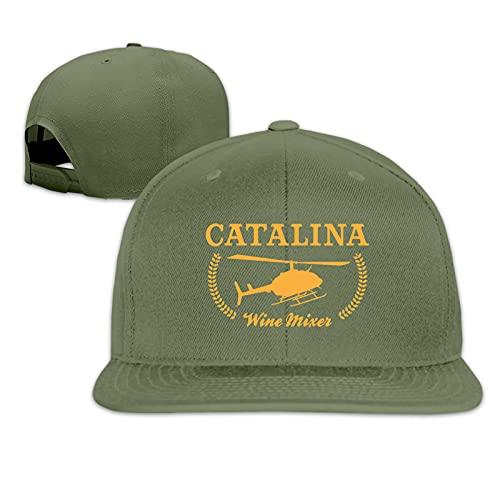 HDOLUICQR Catalina Wine Mixer Baseball Cap Flat Brim Visor Classic Snapback Adjustable Dad Trucker Hat
