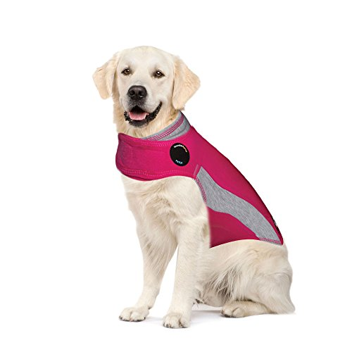 ThunderShirt Polo Dog Anxiety Jacket | Vet Recommended Calming Solution Vest for Fireworks, Thunder, Travel, & Separation | Pink, X-Large, Model:HPXLT01