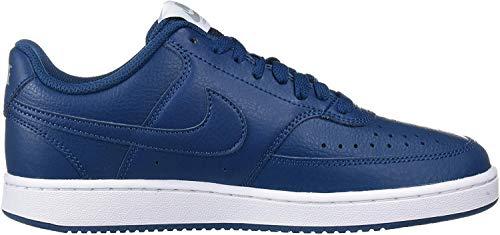 Nike Damen WMNS Court Vision Low Sneaker, Blau (Blue Force/Blue Force/Metallic Silver), 40.5 EU