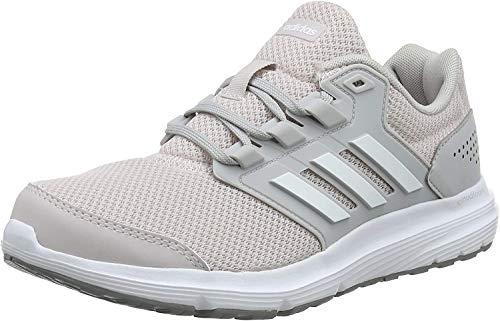 Adidas Galaxy 4, Zapatillas de Entrenamiento Mujer, Gris (Grey/Footwear White/Ice Purple 0), 44 2/3 EU
