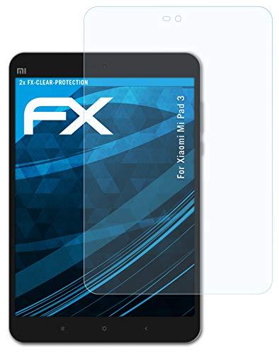 atFolix Schutzfolie kompatibel mit Xiaomi Mi Pad 3 Folie, ultraklare FX Bildschirmschutzfolie (2X)