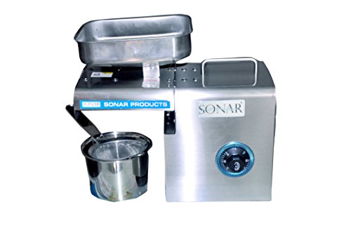 SONAR Oil Press S.A-2005 Oil Press Machine for Multi Purposes/Oil extractor Stainless Steel Pressing Machine/Advanced Food Grade Stainless Steel/Light Weight
