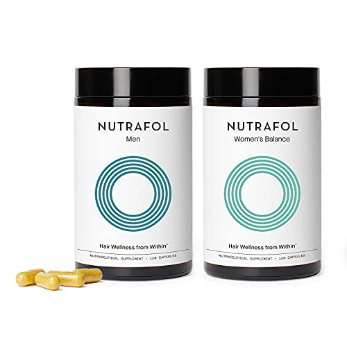 Nutrafol Bundle: Men and Women's Balance Hair Growth Supplements for Visibly...