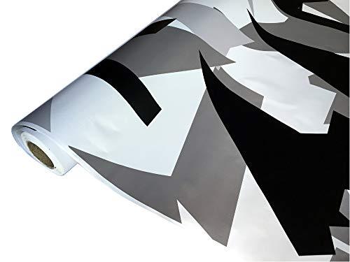 folimac 8,50€/m² Camouflage Autofolie Selbstklebend mit Luftkanäle Schwarz weiß Grau #32 (300cm x 152cm)