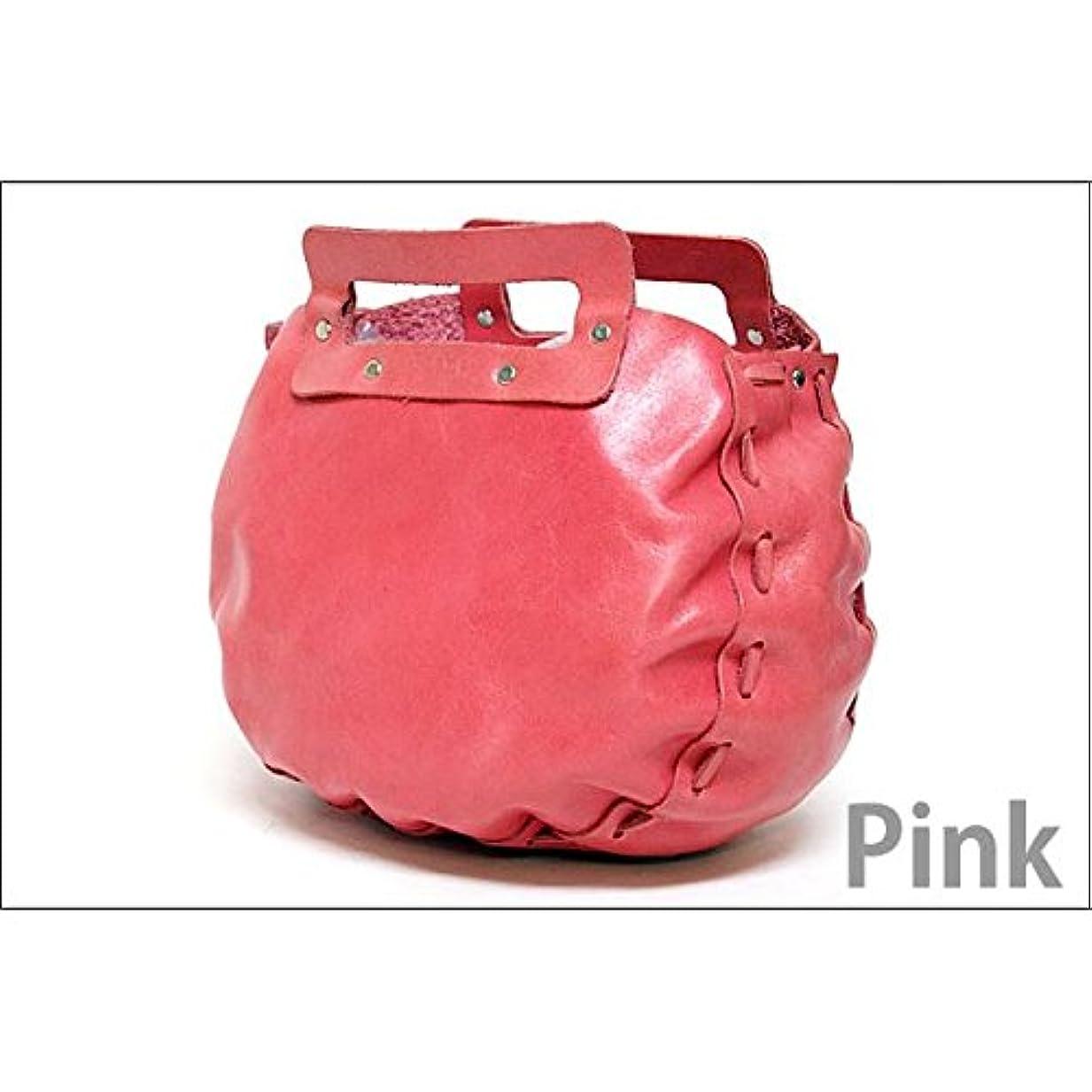 みがきます独創的チーフ★dean(ディーン) bowling bag ハンドバッグ ピンク ds-1912097