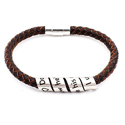 N.egret Hidden Messages Leather Wristbands Fashion Jewelry for Women Bracelets Girls Novelty Gifts Inspirational Quote