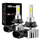 yifengshun 9006 HB4 Lampadine per Faro a LED per Auto COB Chip Headlight Bulbs for Automobile Xenon Bianco 6500K 12000LM 60W Kit di conversione ad alta luminosità