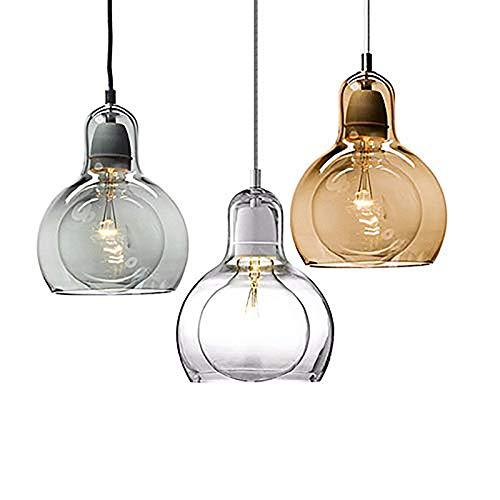 Lampadario moderno Lampada a sospensione Lampadina in vetro creativo Moda per hotel Ristorante Bar...