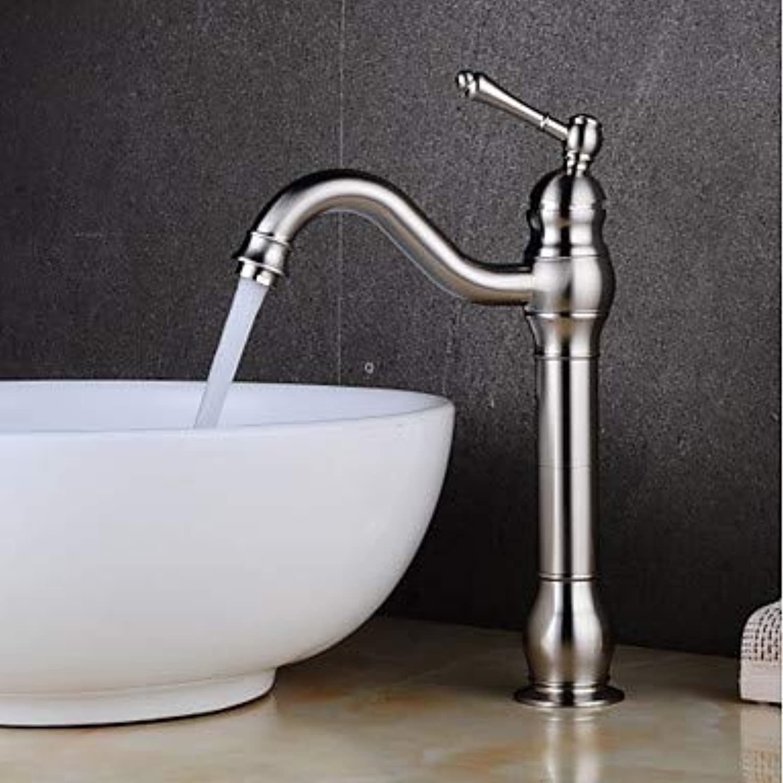 Waschbecken Wasserhahn - Clawfoot Nickel Brushed Centerset Einhand Ein Loch