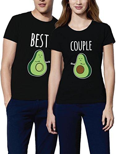 VIVAMAKE Camisetas para Parejas Mujer y...