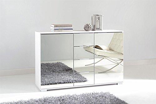 Wimex Kommode/ Kombikommode Easy Plus, (B/H/T) 83 x 41 x 130 cm, Weiß/ Absetzung Spiegel