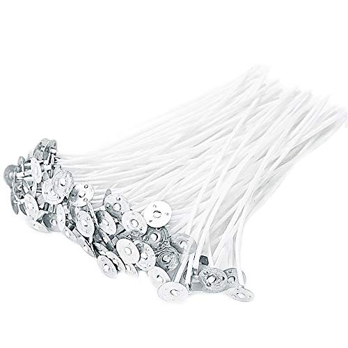 JABINCO 100 Piece Cotton Candle Wick 6' Pre-Waxed for Candle Making