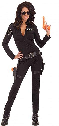 shoperama S.W.A.T. SWAT - Disfraz de policía para mujer, talla 34/36
