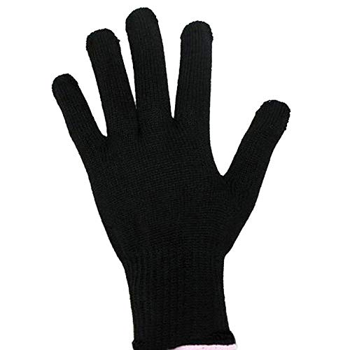 Sunsbell Handschuh, hitzebeständig, Styler, Professionelles Werkzeug für Curling, rechts, flaches Eisen, Handschuh, schwarz, für Lockenstab