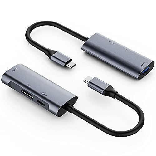 RUMUI 3 en 1 USB C HUB Type-C Hub a 4K HDMI-Compatible USB 3.0 Adapter Docking Station PD 60W Carga rápida para MacBook/Pro/Huawei/PC/Switch