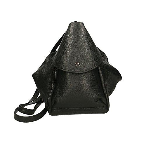Chicca Borse mochila Mujer en cuero genuino 15x25x20 Cm