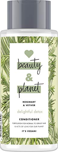 Love Beauty and Planet Delightful Detox Après-shampoing pour cheveux normaux et gras, sans romarin et sans vétiver 400 ml