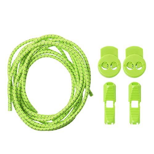 SimpleLife No Tie Lazy Laces Veters voor kinderen en volwassenen, elastische sportschoen met ronde gesp, reflecterend zonder veters lopen Exercise Lock Lace