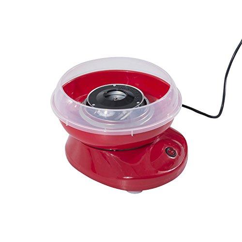 HOMCOM Zuckerwattemaschine Zuckerwattegerät Zuckerwatte Maschine Rot