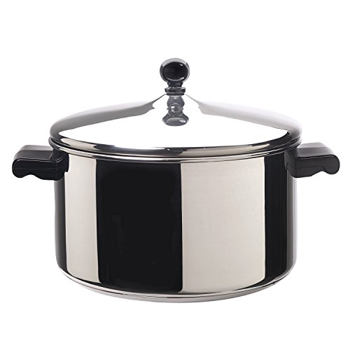 Farberware Stainless Steel Stockpot with Lid, 6-Quart