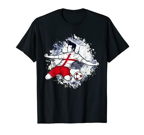 Inglaterra Fútbol Inglés Bandera Nacional Football Lovers Camiseta